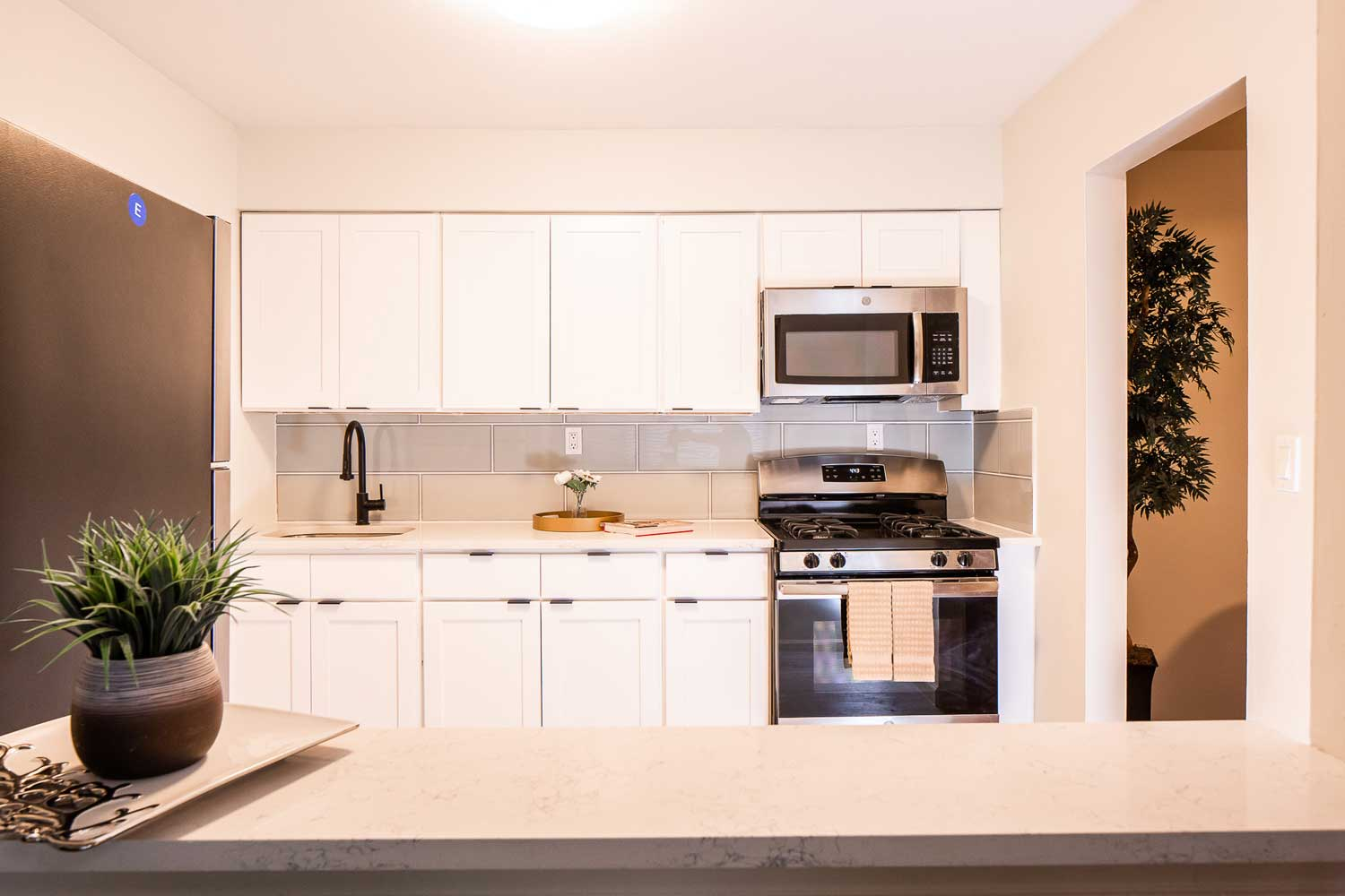 Stainless Steel Appliances at Hampton Gardens Apartments in Middlesex, New Jersey