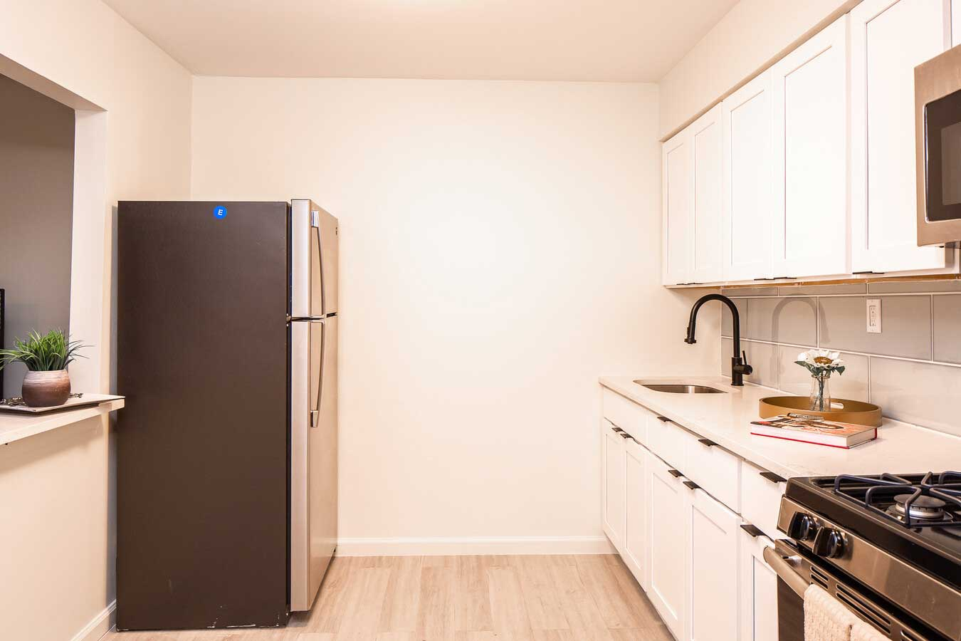 Kitchen at Hampton Gardens Apartments in Middlesex, New Jersey