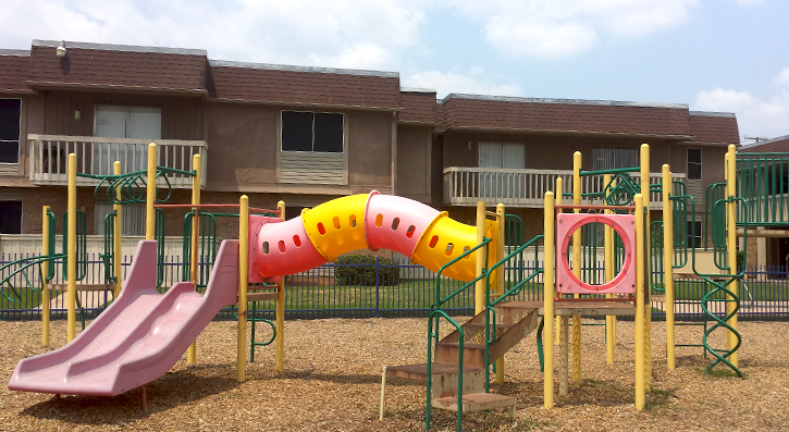 Fun-Filled Playground  at The Avanti on Central Apartments in Bedford , TX