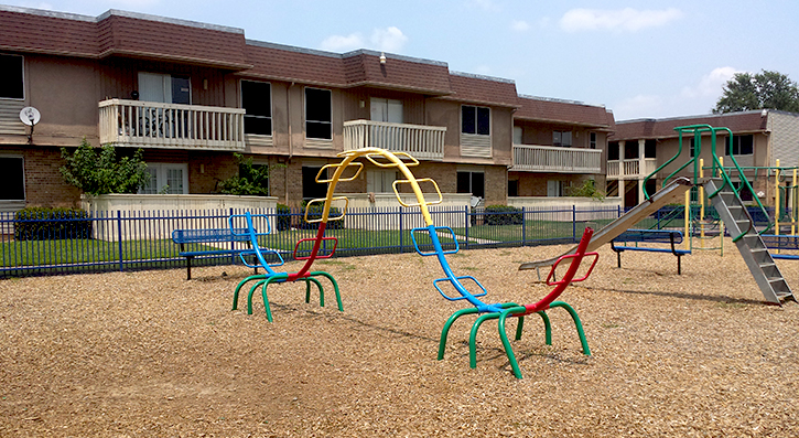 Fun-Filled-Playground at The Avanti on Central Apartments in Bedford, TX