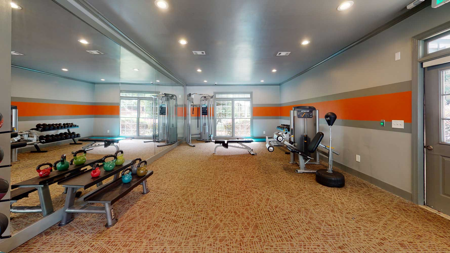 Fitness Center at The Hamptons at East Cobb Apartments in Marietta, Georgia