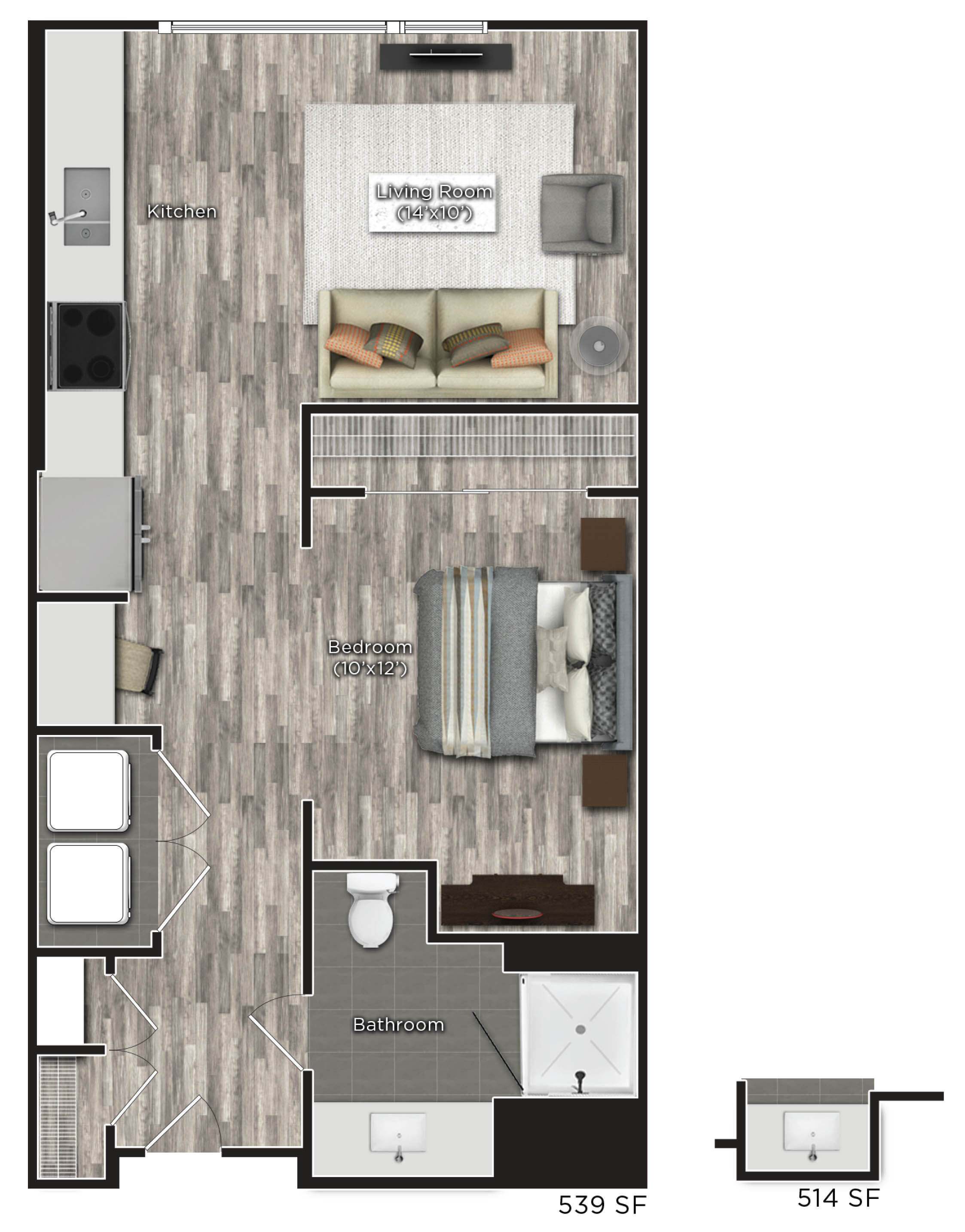 Tens on West - Floorplan - A - Studio