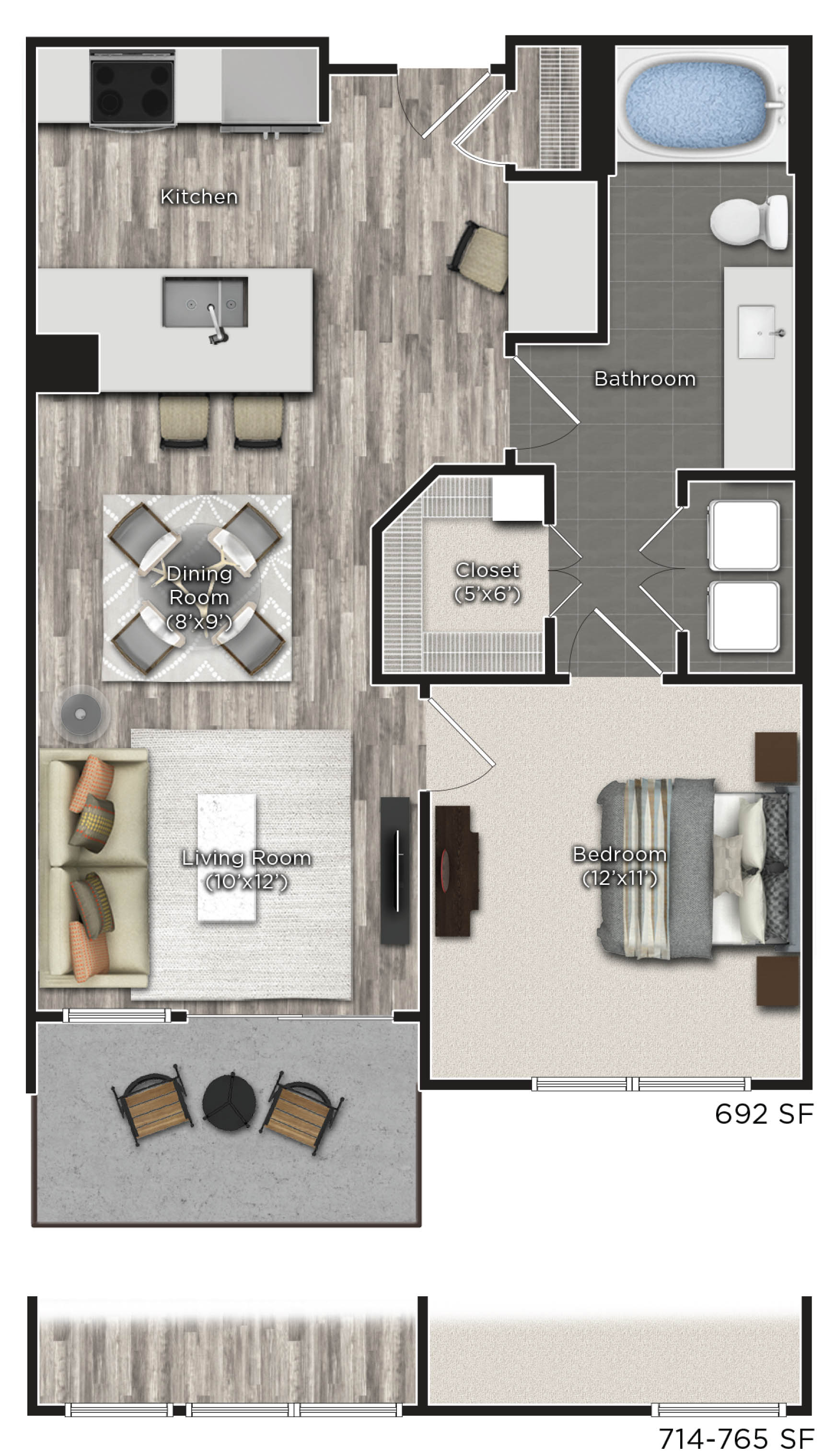 Tens on West - Floorplan - B