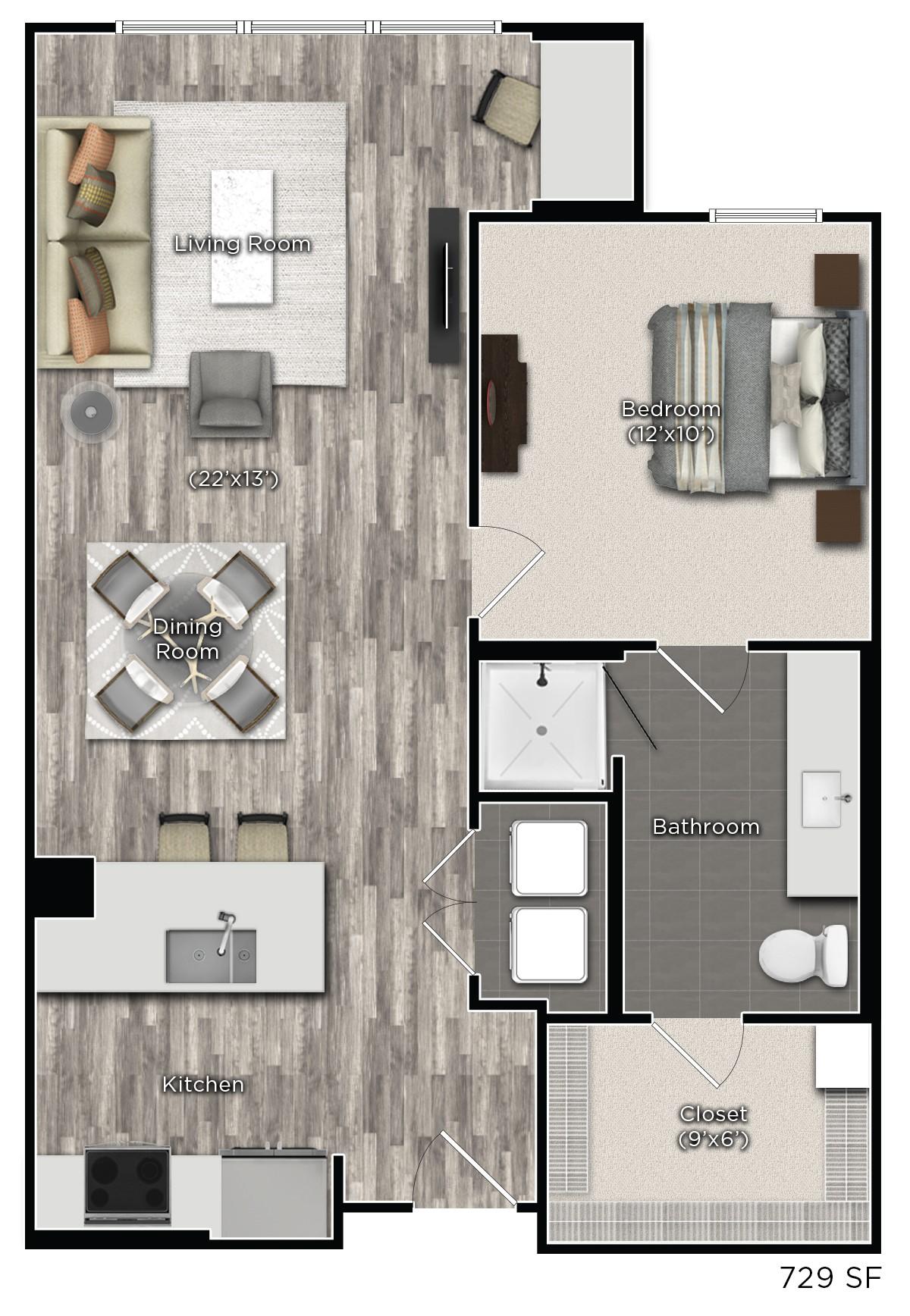 Tens on West - Floorplan - D