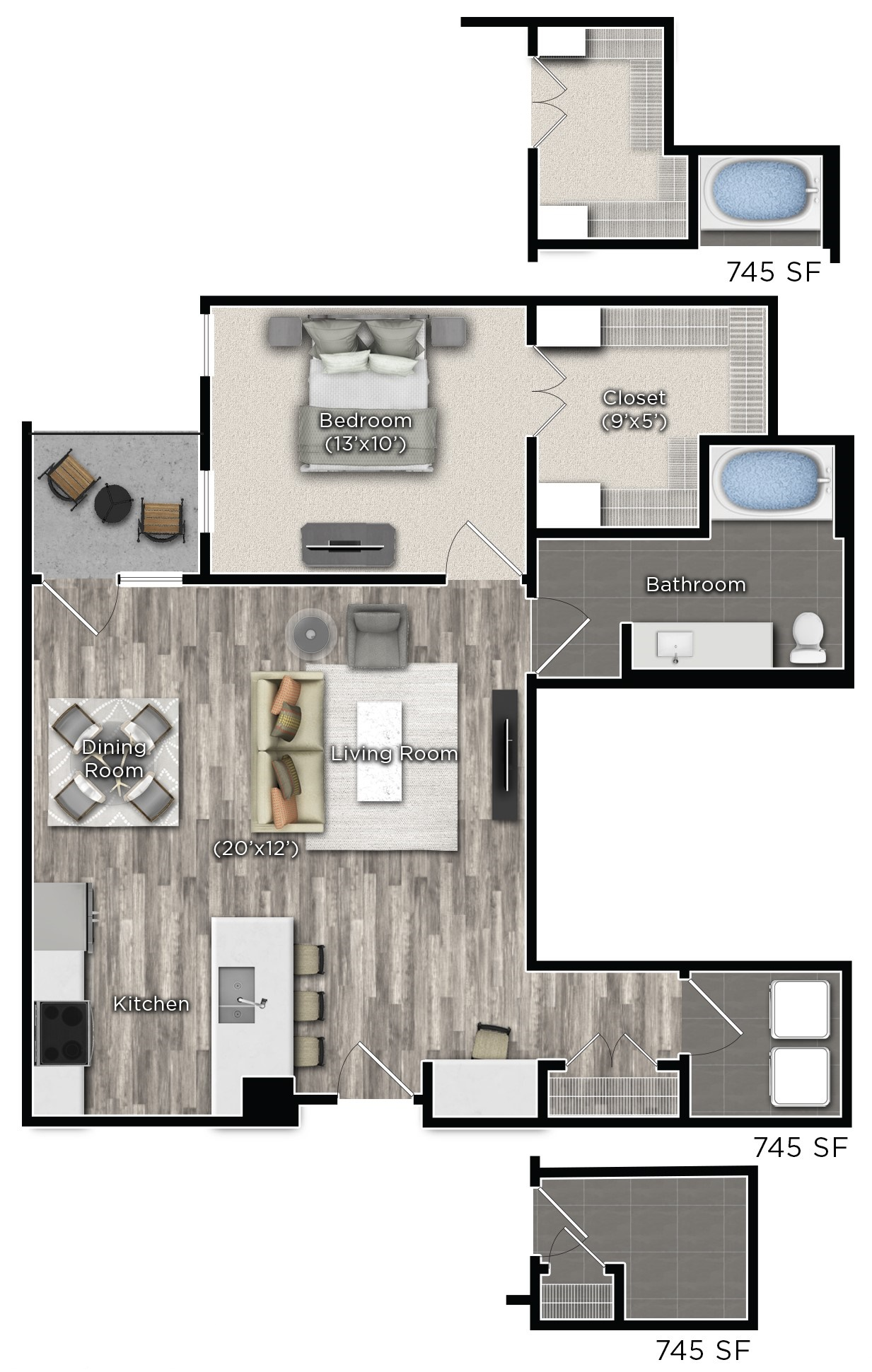 Tens on West - Floorplan - E