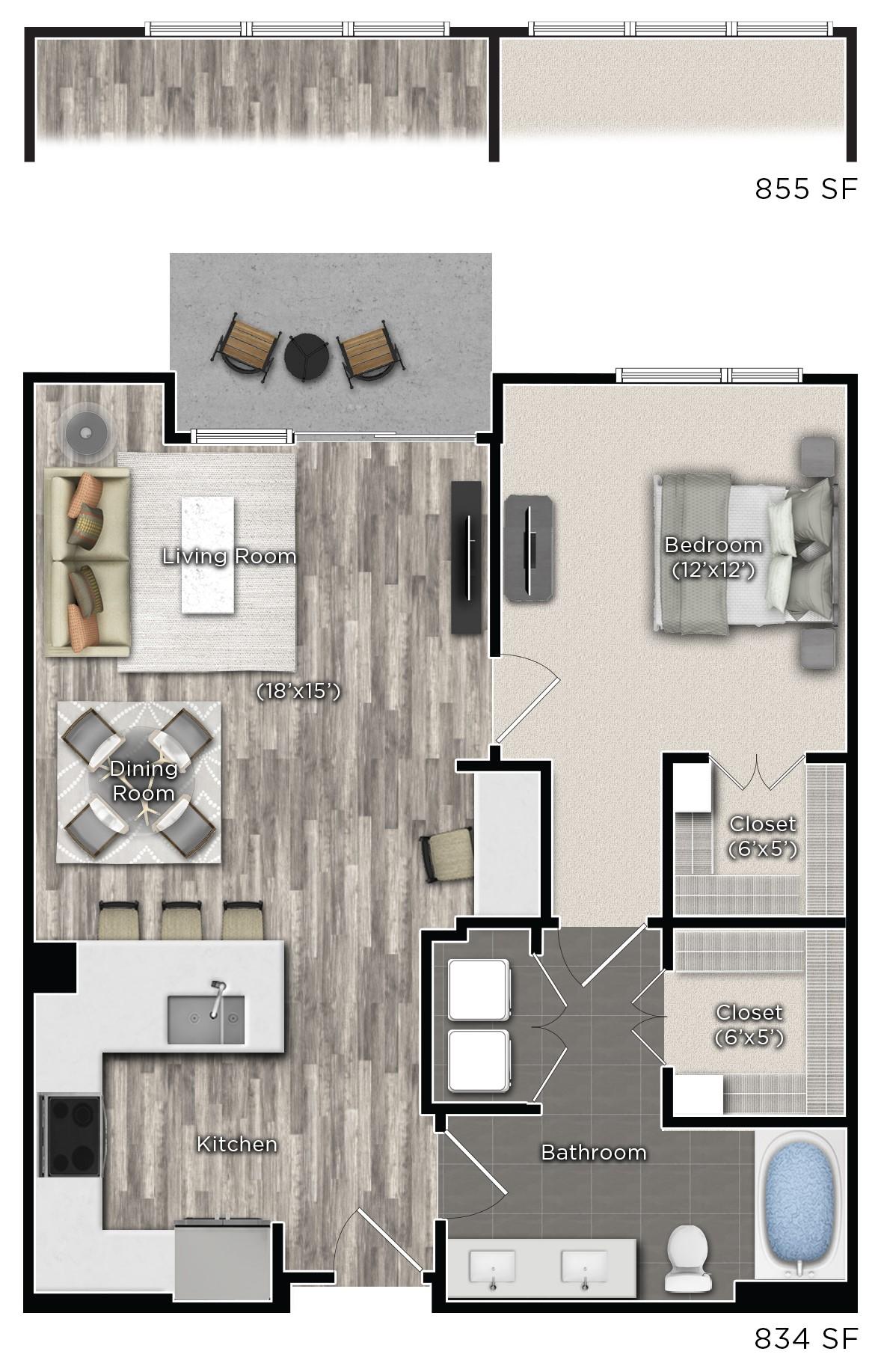 Floorplan - F image