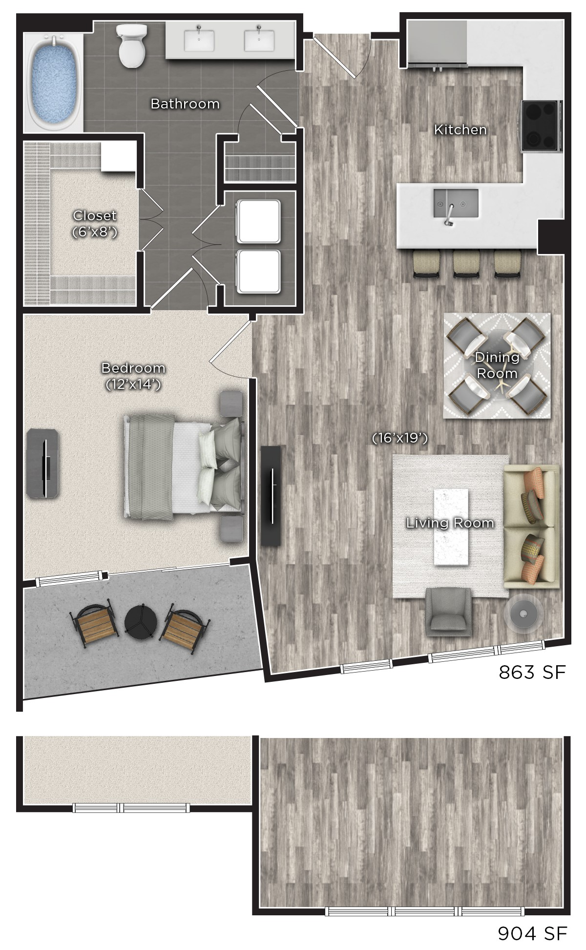 Tens on West - Floorplan - G