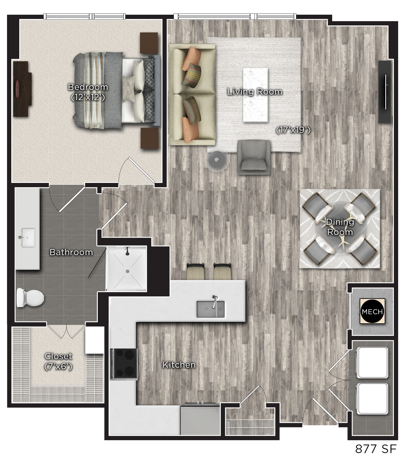 Tens on West - Floorplan - H