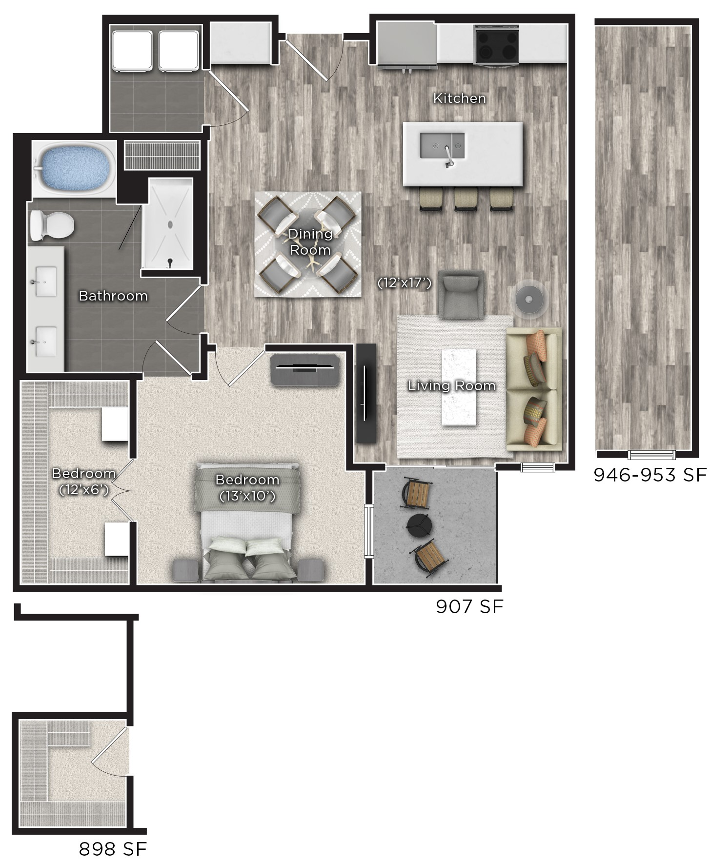 Tens on West - Floorplan - J