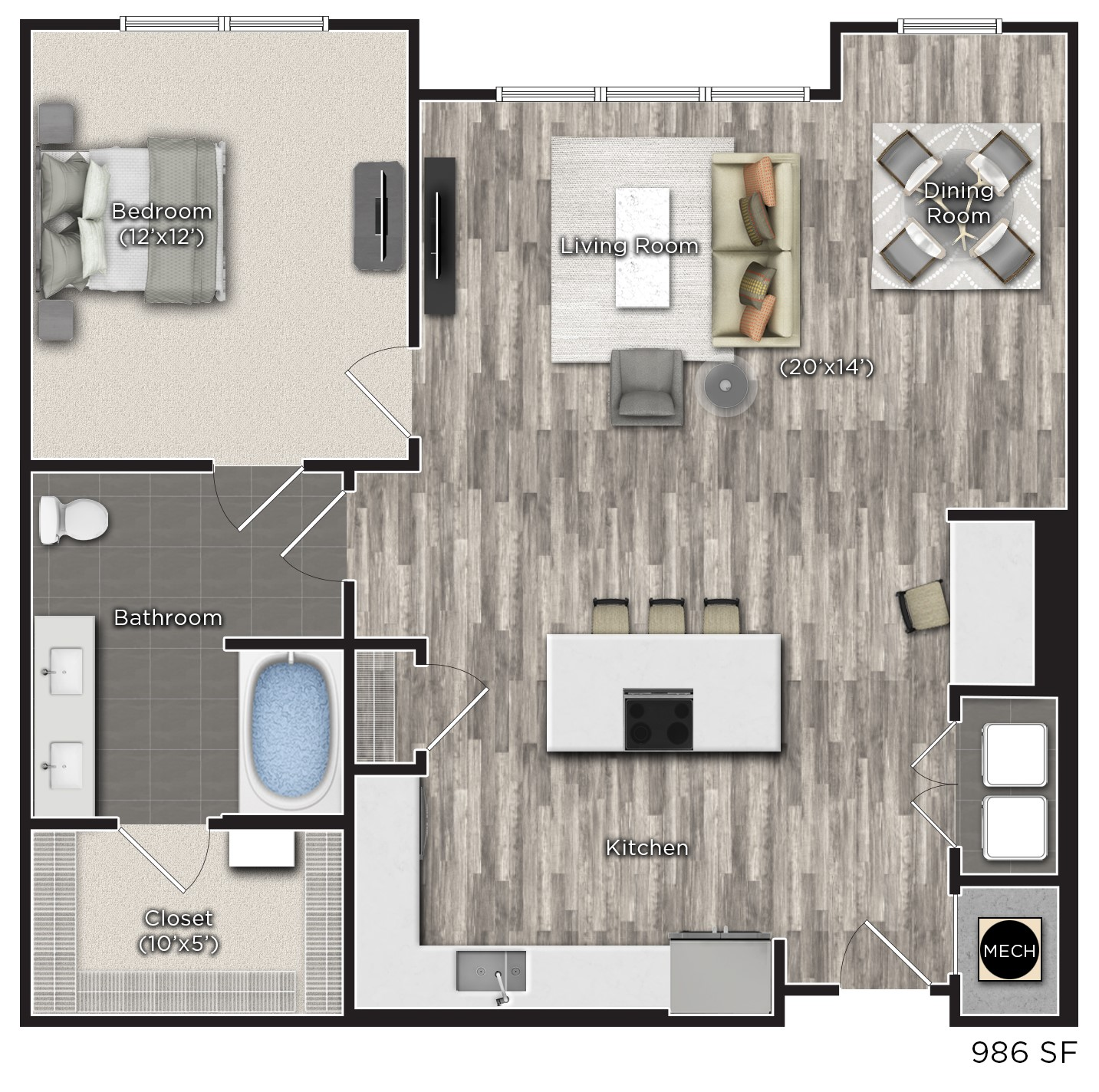Tens on West - Floorplan - K