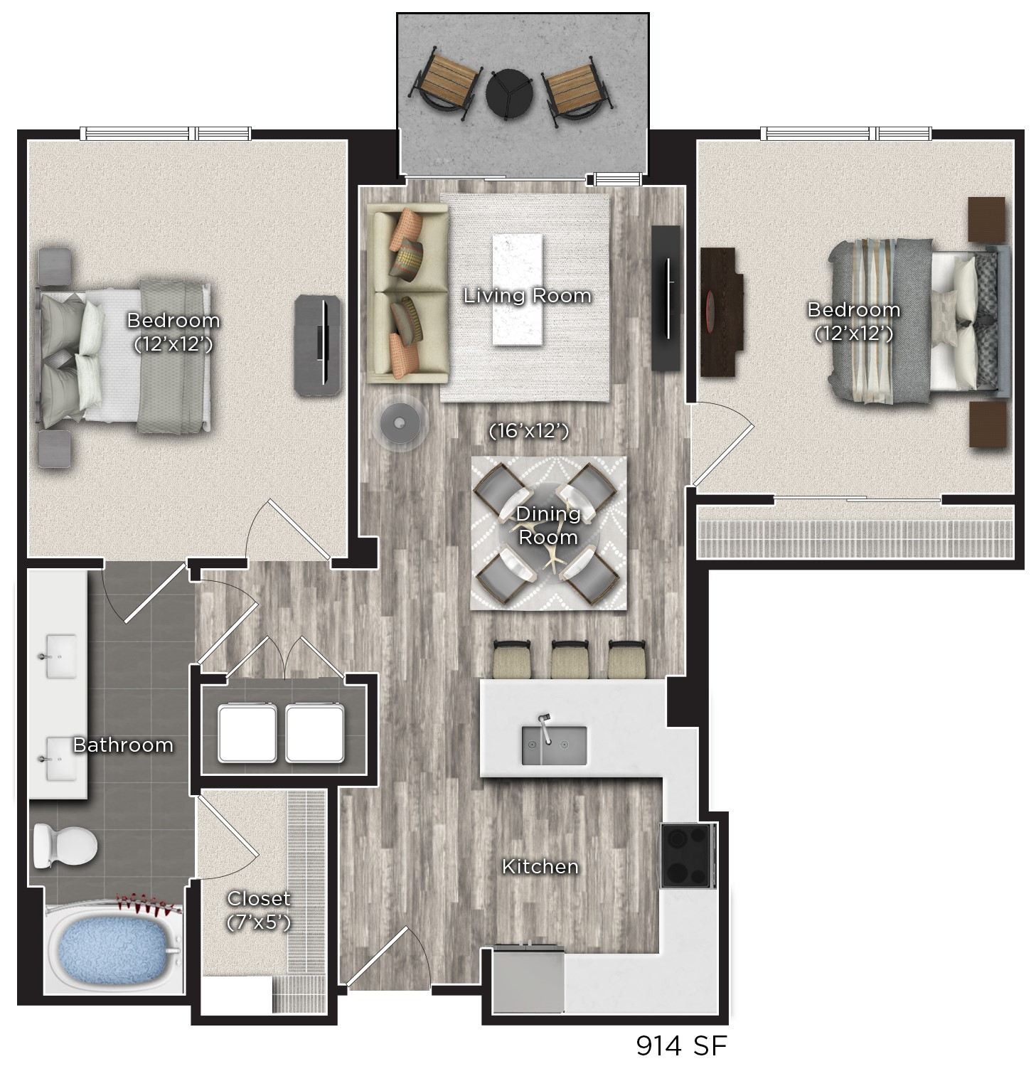 Tens on West - Floorplan - L