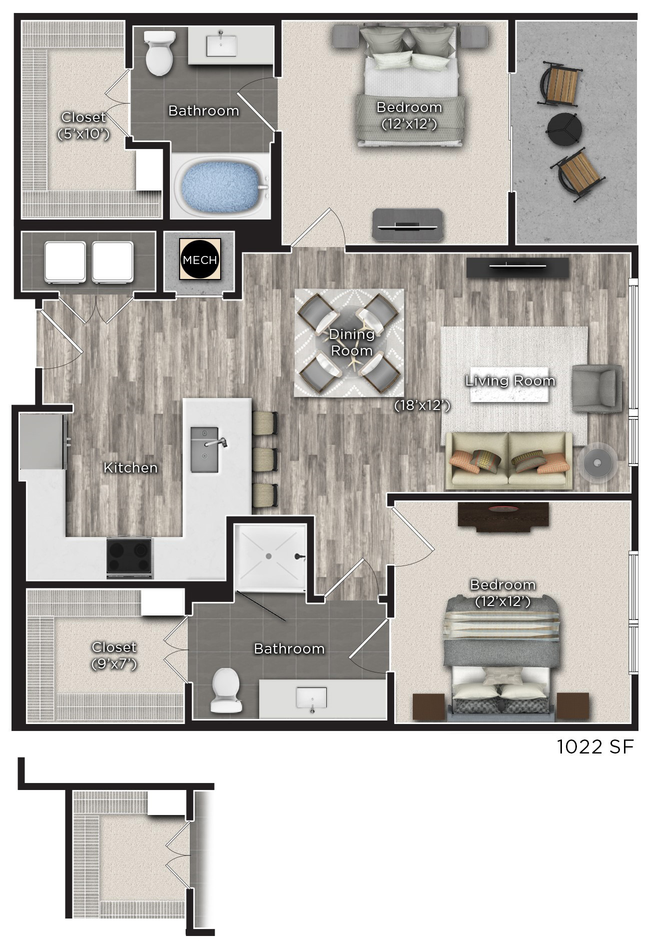 Tens on West - Floorplan - M