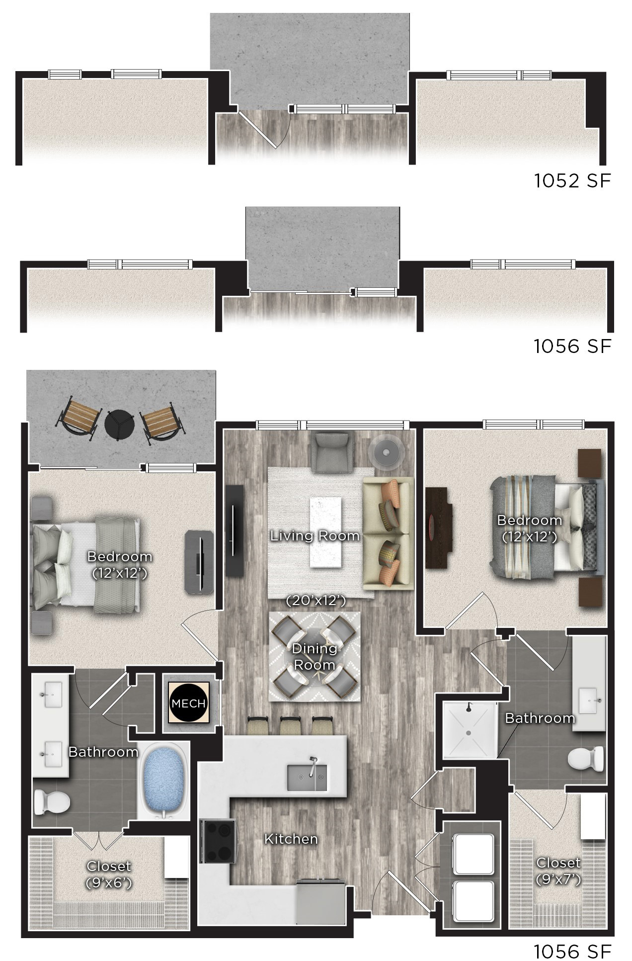 Tens on West - Floorplan - N
