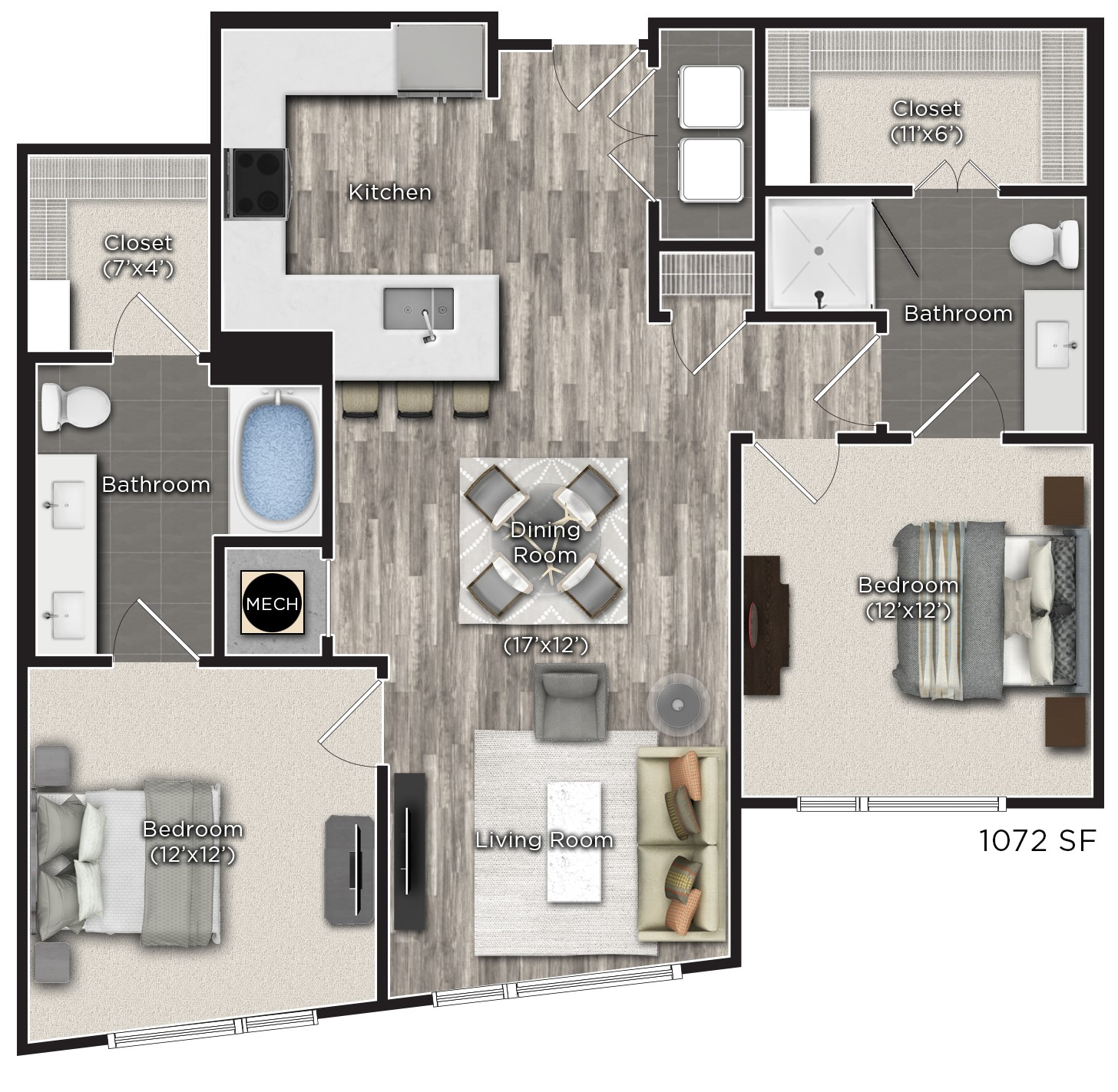 Tens on West - Floorplan - O