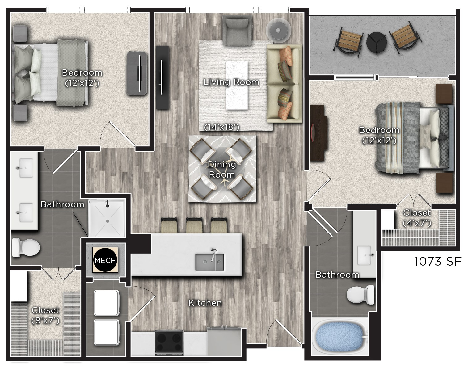 Tens on West - Floorplan - P