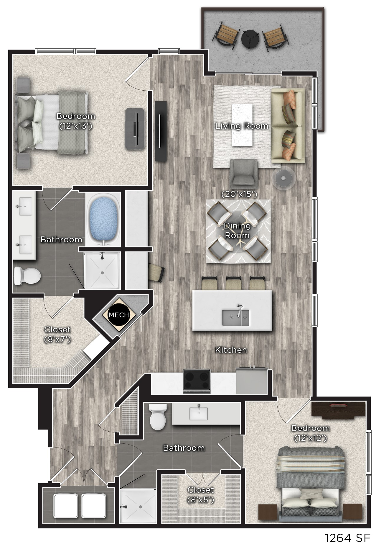 Tens on West - Floorplan - T