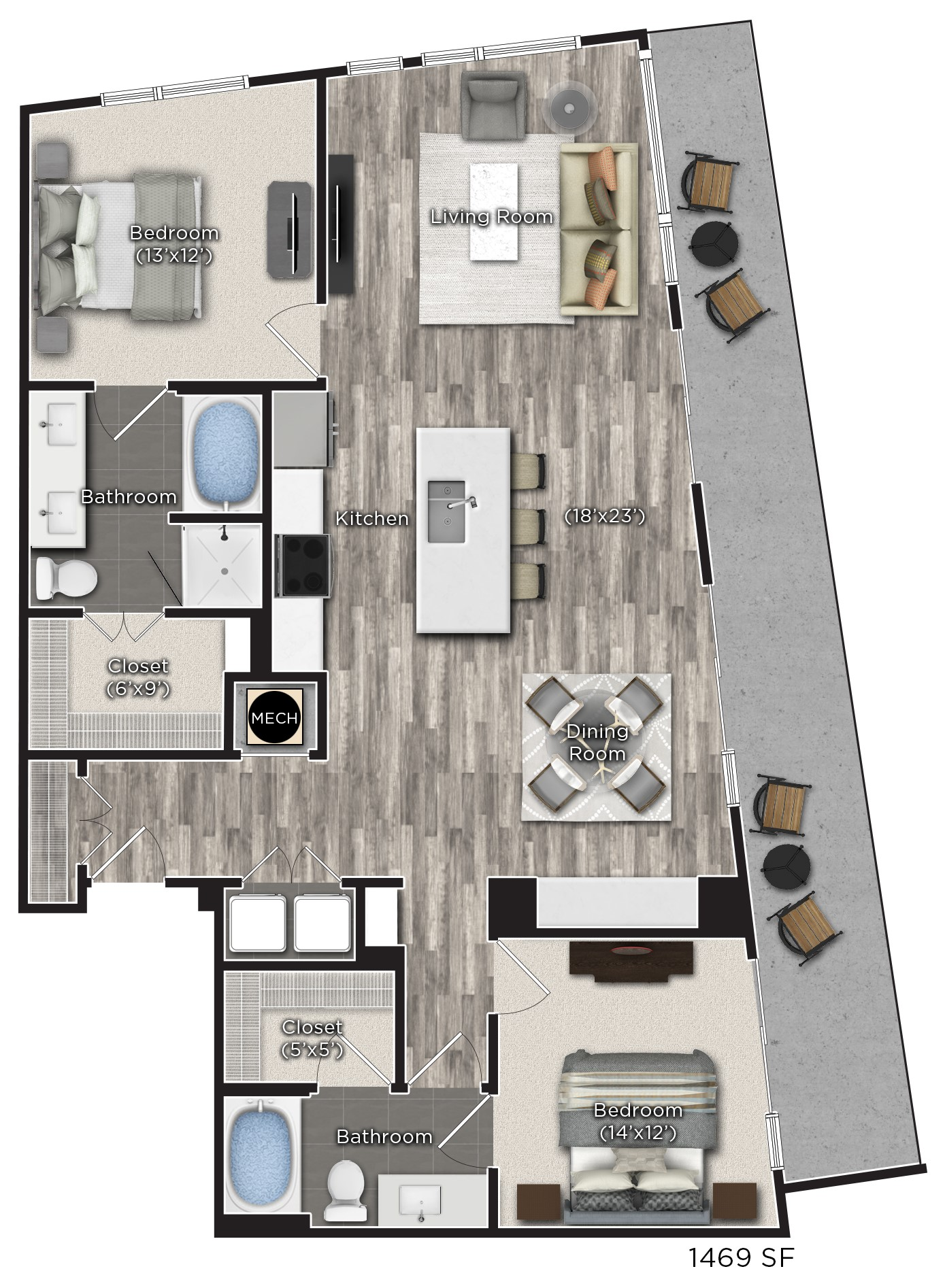 Tens on West - Floorplan - V
