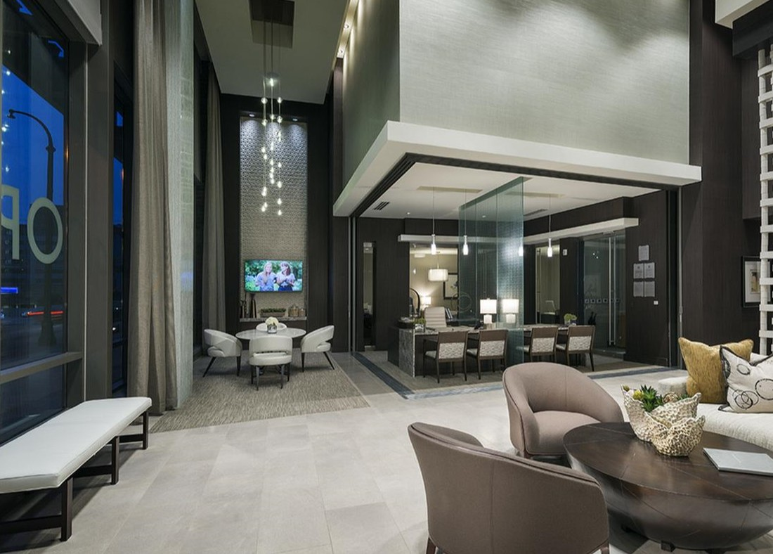 Exclusive Clubhouse at Hanover West Peachtree Apartments in Atlanta, GA
