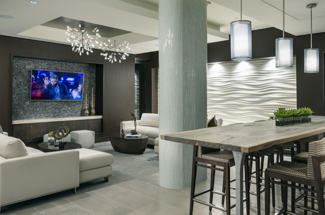 Living Area at Hanover West Peachtree Apartments in Atlanta, GA
