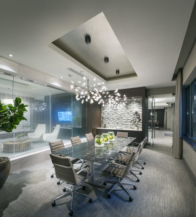 Conference Room at Hanover West Peachtree Apartments in Atlanta, GA