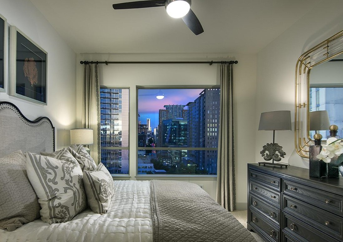 Interior of Bedroom at Hanover West Peachtree Apartments in Atlanta, GA