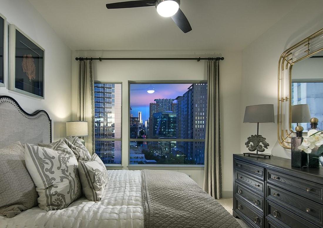 Interior of Bedroom at Hanover West Peachtree Apartments in Atlanta, GA