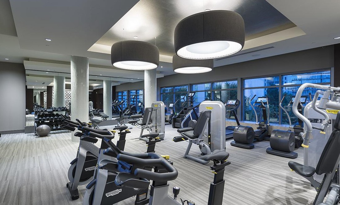 State-Of-The-Art Fitness Center at Hanover West Peachtree Apartments in Atlanta, GA