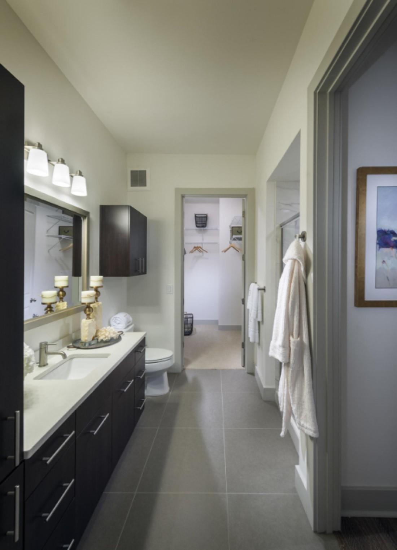 Bathroom Interior at Hanover West Peachtree Apartments in Atlanta, GA