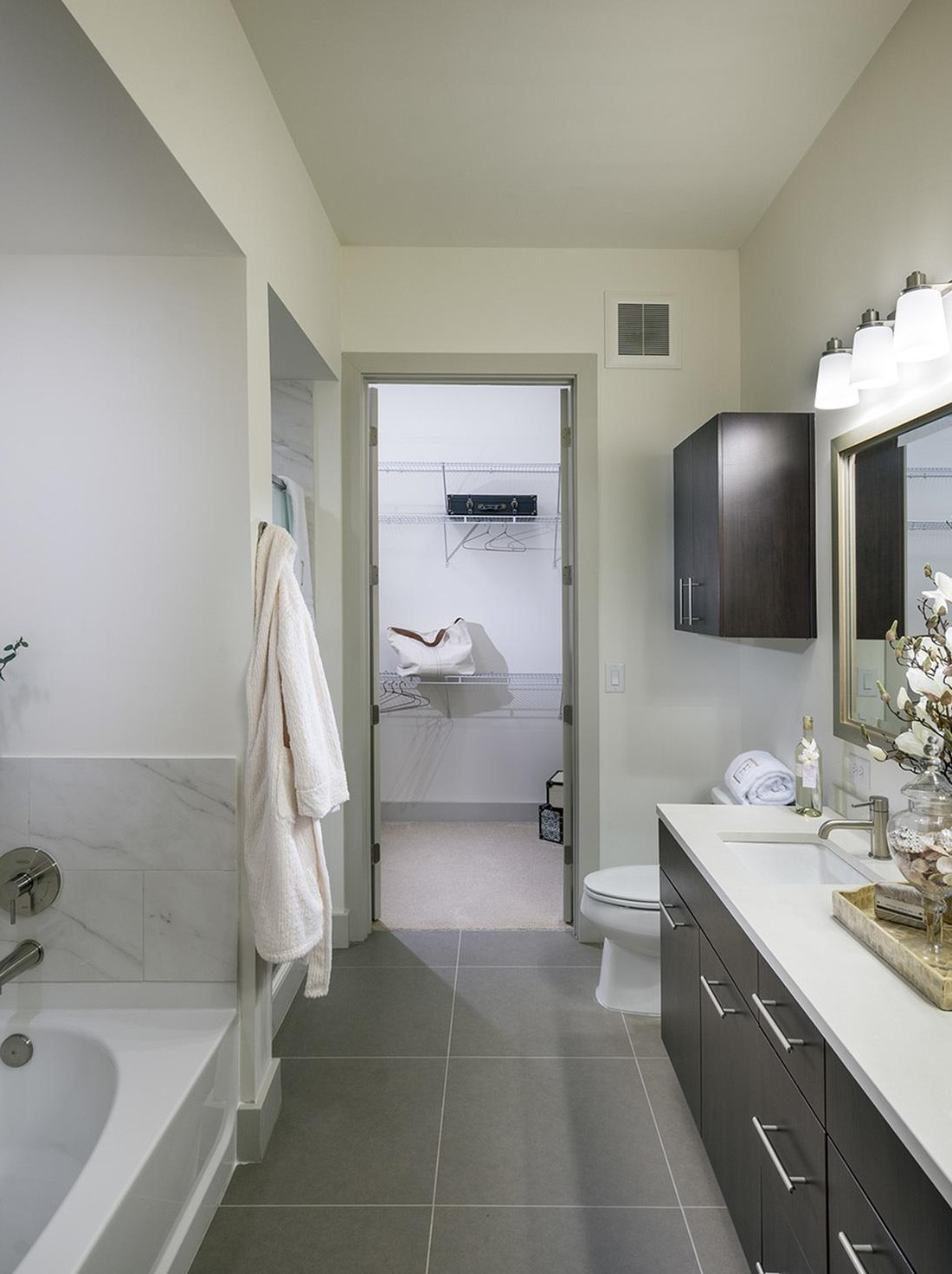 Bathroom Interior at Hanover West Peachtree Apartments in Atlanta, GA