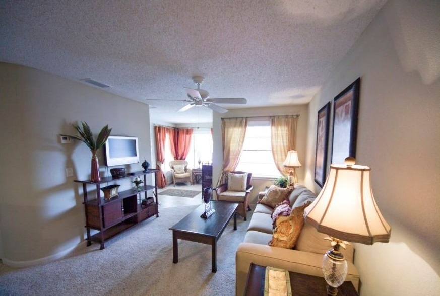 Spacious Living Room at Harbor Oaks Apartments in Hudson, FL