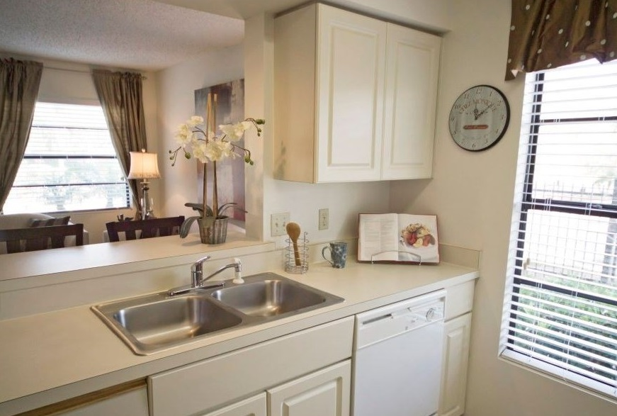 Ample Kitchen Counter Space at Harbor Oaks Apartments in Hudson, FL