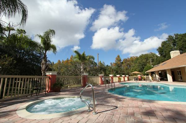 Sparkling Swimming Pool at Harbor Oaks Apartments in Hudson, FL