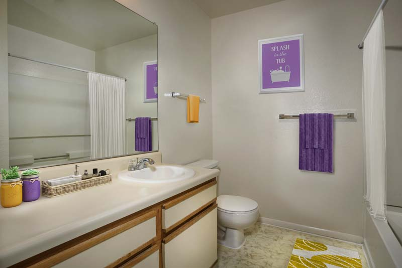 Spacious bath area at Harbour Gates Apartments in Annapolis, MD