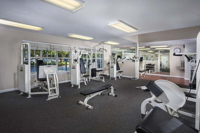 Fitness center at Harbour Gates Apartments in Annapolis, MD