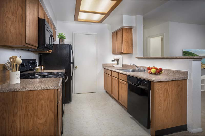 Fully-equipped kitchen at Harbour Gates Apartments in Annapolis, MD