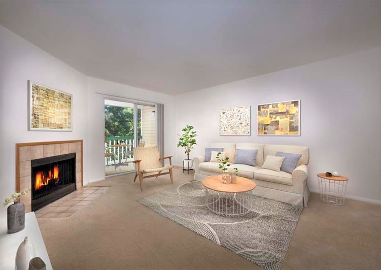 Spacious living area at Harbour Gates Apartments in Annapolis, MD