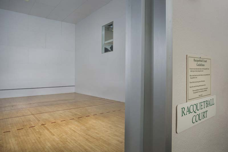 Full-size indoor racquetball court at Harbour Gates Apartments in Annapolis, MD