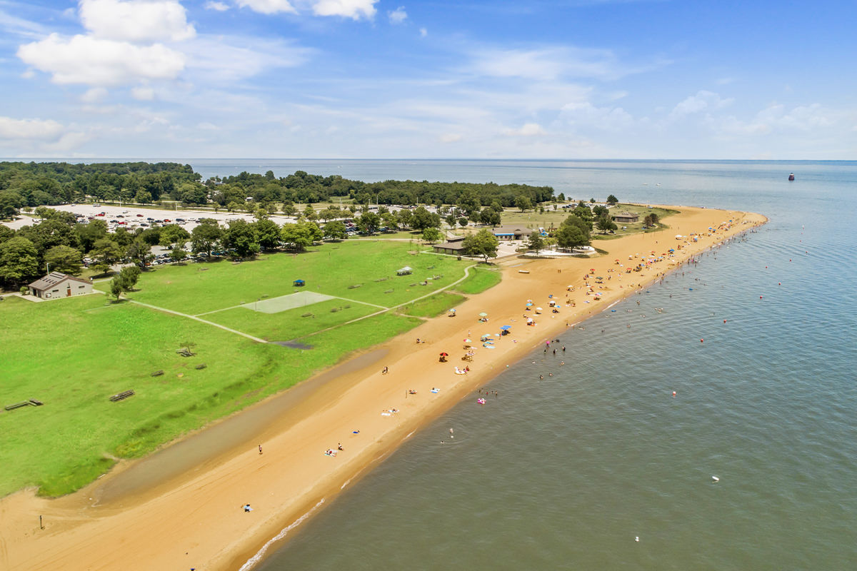 Sandy Point State Park is 10 minutes from Harbour Gates Apartments in Annapolis, MD