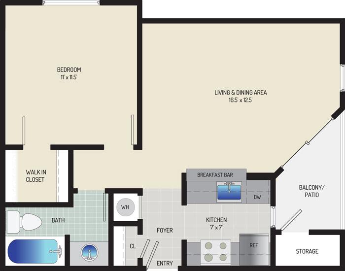 Harbour Gates Apartments - Apartment 552000-026-C2