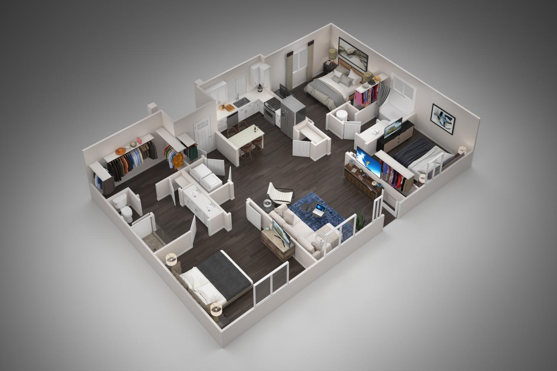 Floorplan - 3A image