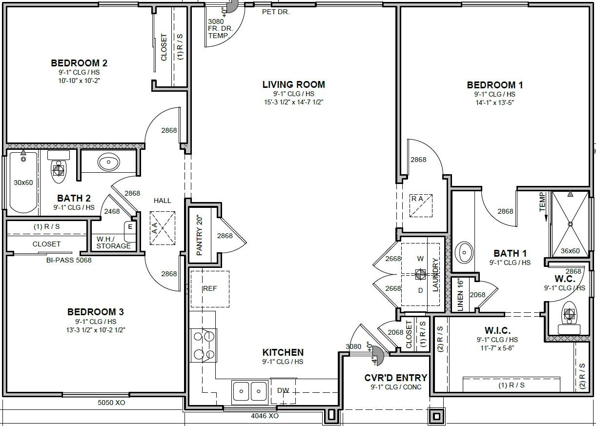 Informative Picture of Three Bedroom