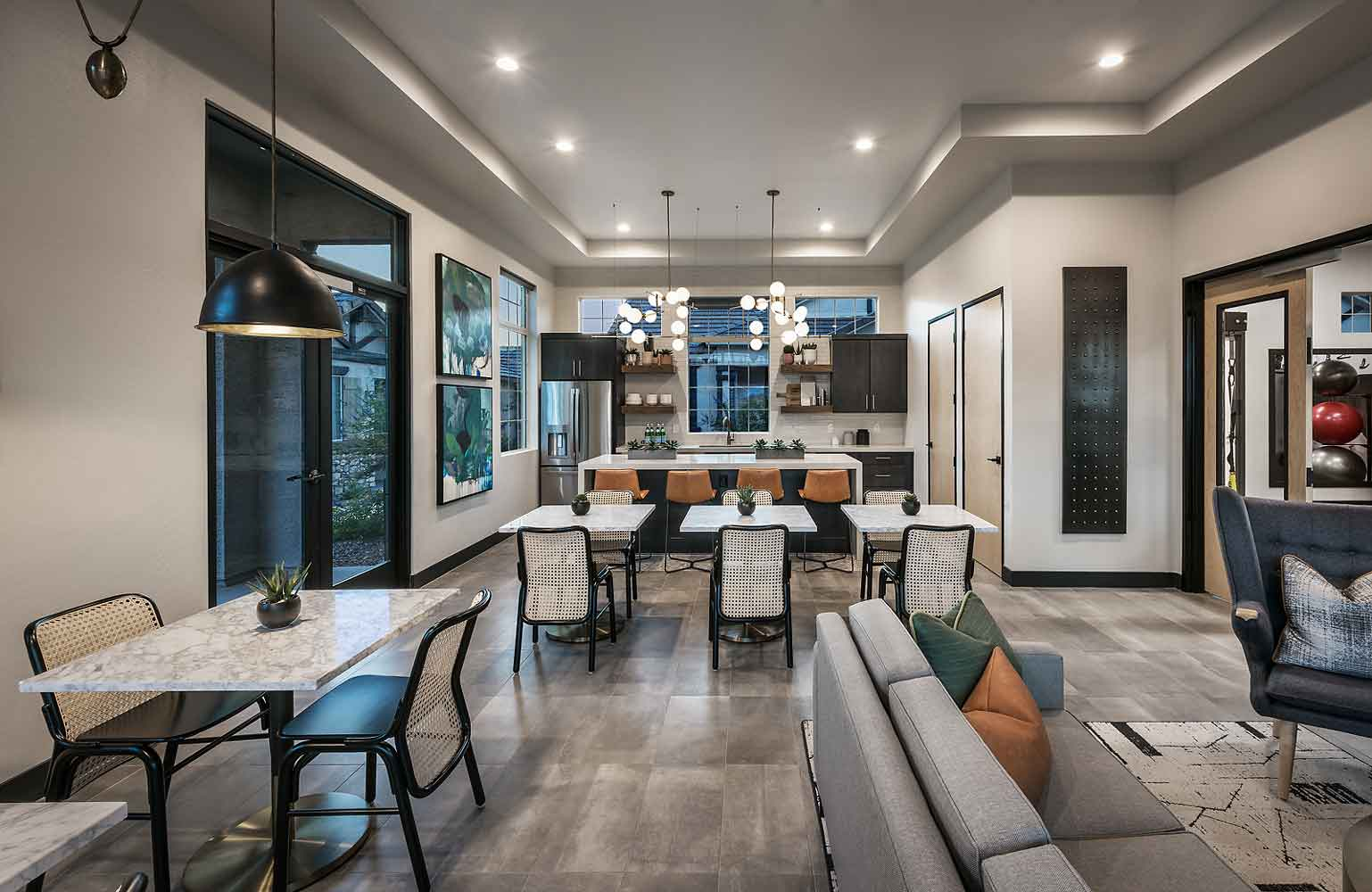 Resident Clubhouse at Village at Harvard Crossing Apartments in Goodyear, AZ
