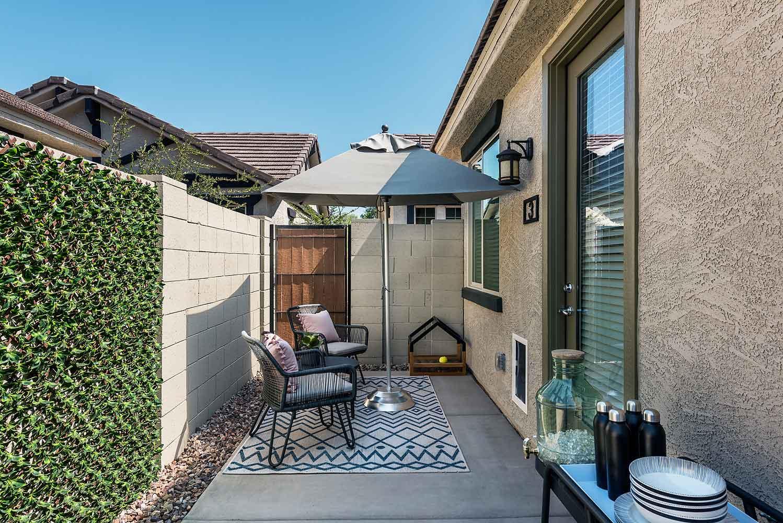 Private Backyard at Harvard Crossing Apartments in Goodyear, AZ