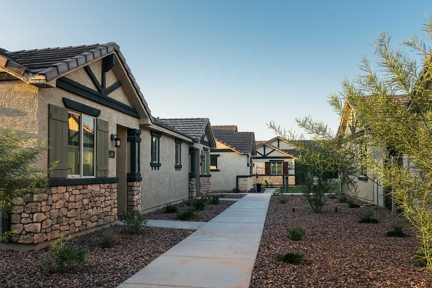 One, Two and Three-Bedroom Floor Plans at Village at Harvard Crossing Apartments in Goodyear, AZ