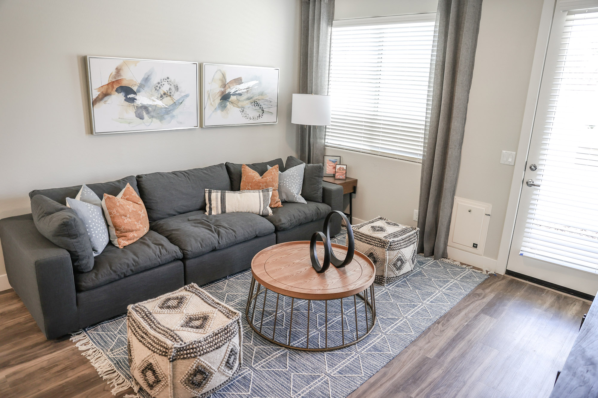 Spacious Living Area at Village at Harvard Crossing Apartments in Goodyear, AZ