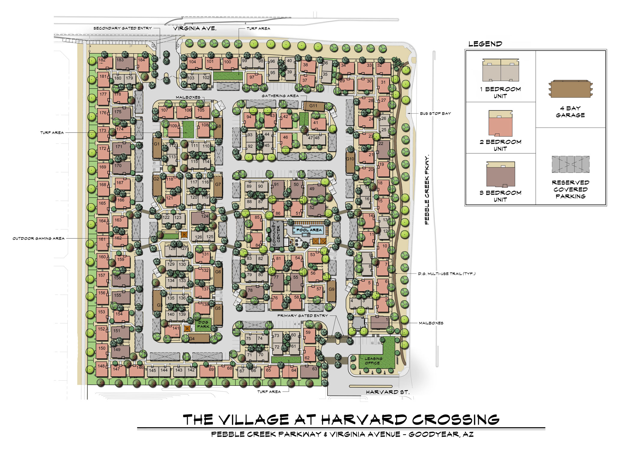 Site Plan for Village at Harvard Crossing Apartments in Goodyear, AZ