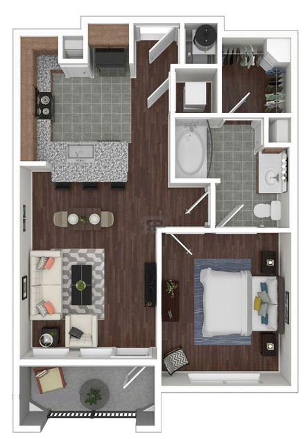 Haven at Main - Floorplan - A1