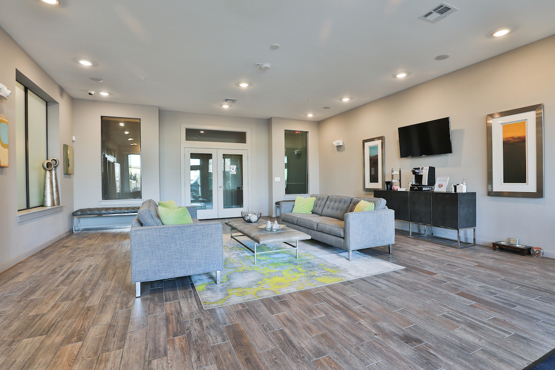 Elegant Clubhouse Seating Area At Haven at Main Apartments In Houston, TX