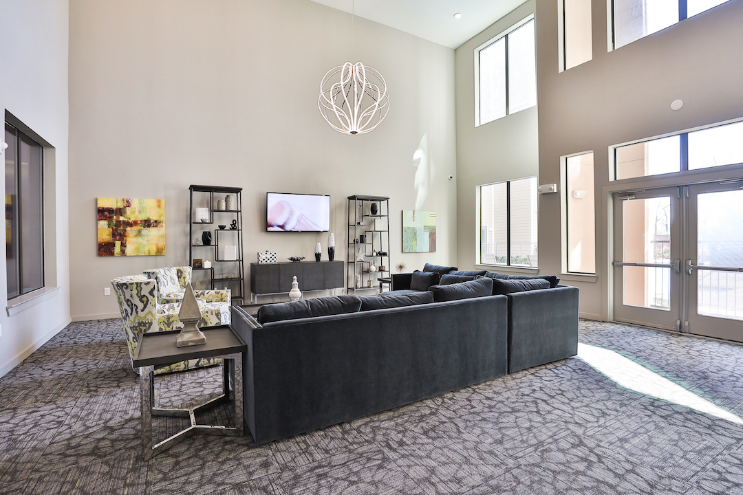 Elegant Clubhouse At Haven at Main Apartments In Houston, TX