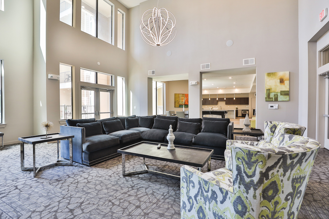 Ample Seating In Clubhouse At Haven at Main Apartments In Houston, TX